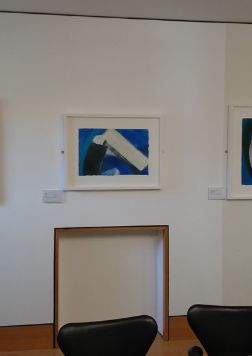 Three of eight paintings by Wilhelmina Barns-Graham on loan to Scottish Parliament, sited in Dining Room of Presiding Officer.