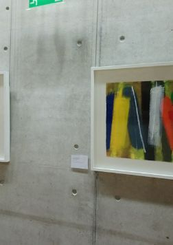 Two of eight paintings by Wilhelmina Barns-Graham on loan to Scottish Parliament, sited on ground floor.