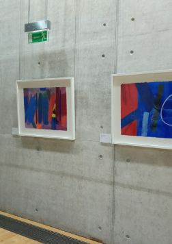 Three of eight paintings by Wilhelmina Barns-Graham on loan to Scottish Parliament, sited on ground floor.