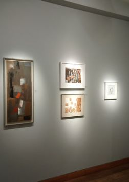 View of exhibition with art by Wilhelmina Barns-Graham, John Wells and George Dannatt